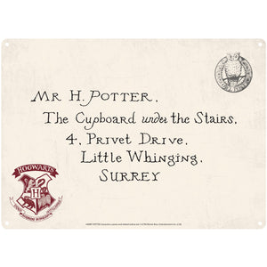 Harry Potter Tin Sign - Letters