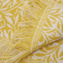 Load image into Gallery viewer, William Morris Willow Blanket - Ochre Yellow