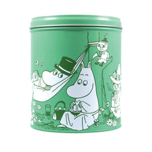 Load image into Gallery viewer, Moomin Tea Towel in a Tin - Dishes in the Sea