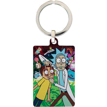 Load image into Gallery viewer, Rick And Morty Metal Keyring