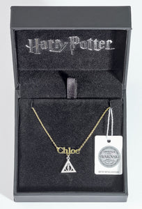 Necklace with Deathly Hallow Charm Personalised - Olleke | Disney and Harry Potter Merchandise shop