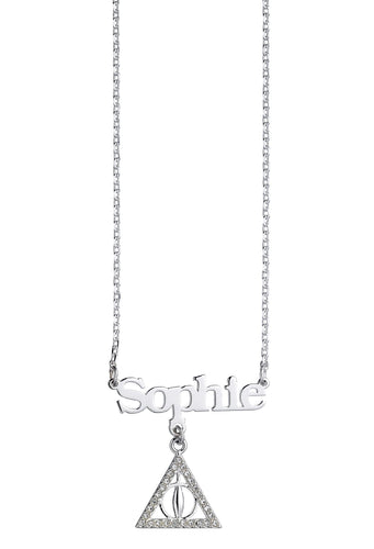 Necklace with Deathly Hallows Charm Personalised - Olleke | Disney and Harry Potter Merchandise shop