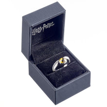 Load image into Gallery viewer, Harry Potter Sterling Silver Swarovski Ring Golden Snitch Small