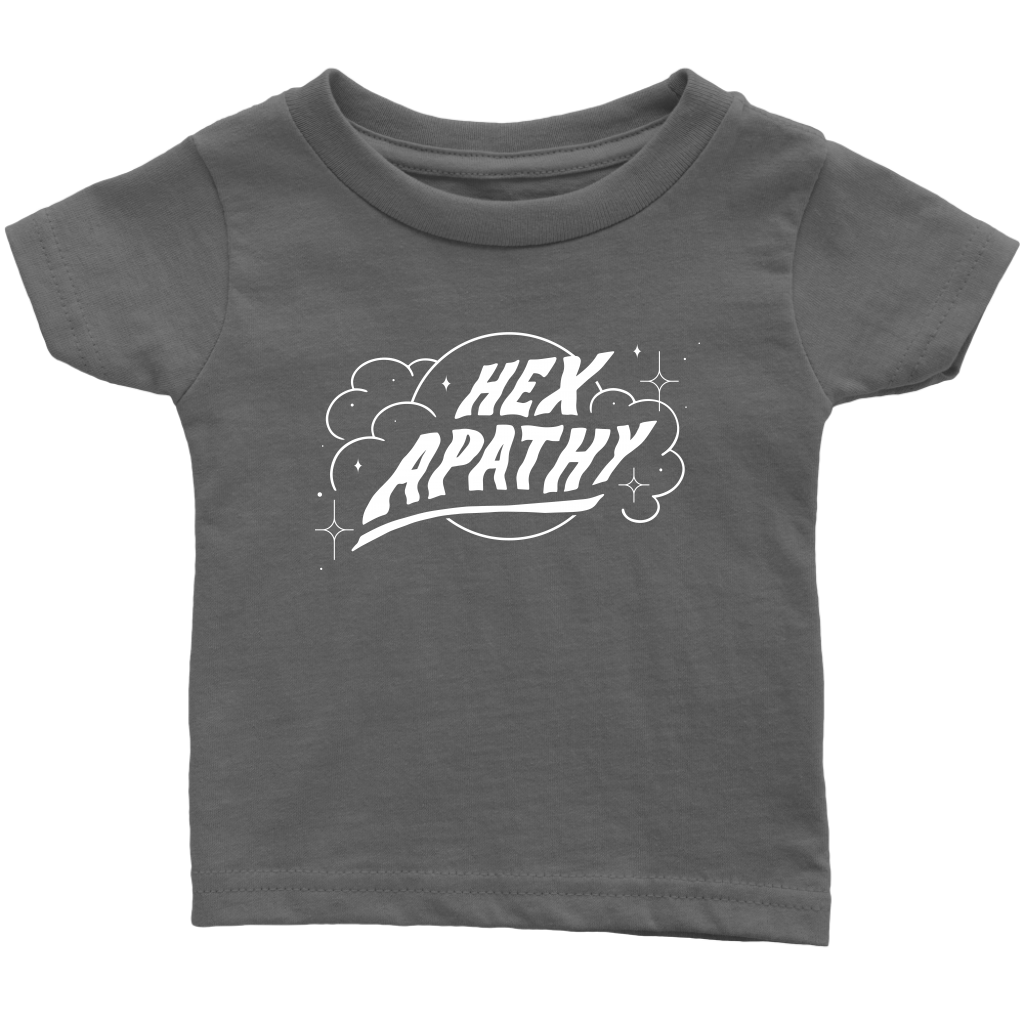 Hex Apathy Infant - 9 Colors Available (white print)