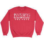 Load image into Gallery viewer, Zodiac The Vote Fleece Sweatshirt - 7 Colors Available (white print)