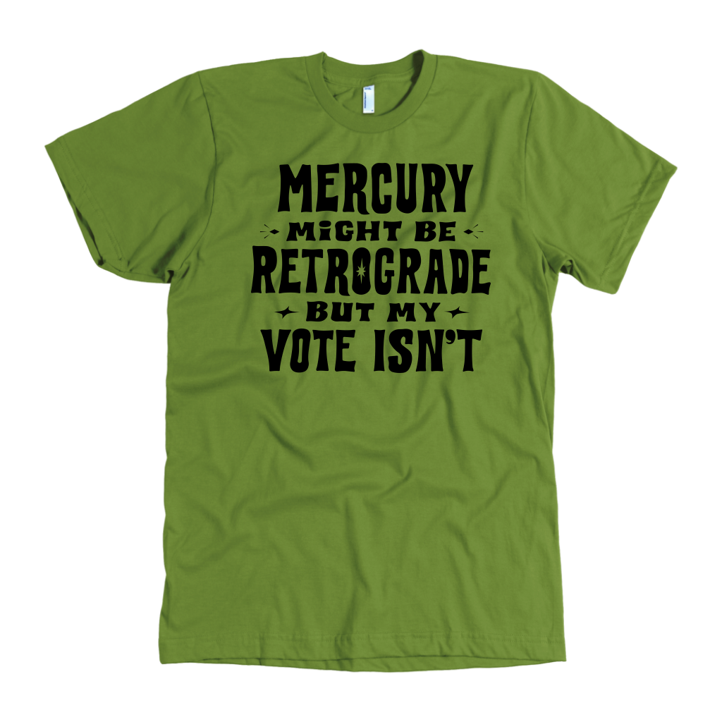 Mercury Retrograde - 5 Colors Available (black print)*