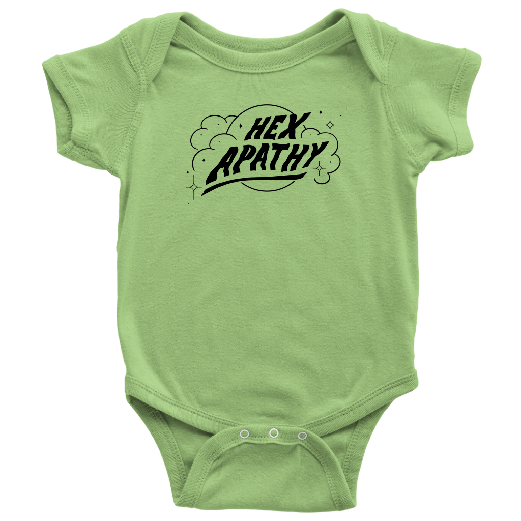 Hex Apathy Infant Bodysuit - 5 Colors Available (black print)