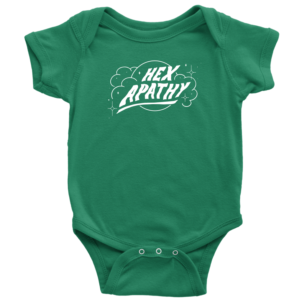Hex Apathy Infant Bodysuit - 8 Colors Available (white print)