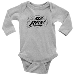 Load image into Gallery viewer, Hex Apathy Infant Long Sleeve Bodysuit - 5 Colors Available (black print)