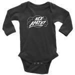 Load image into Gallery viewer, Hex Apathy Infant, Long Sleeve Bodysuit - 5 Colors Available (white print)