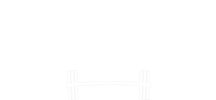 Barbell Logo White Bottom