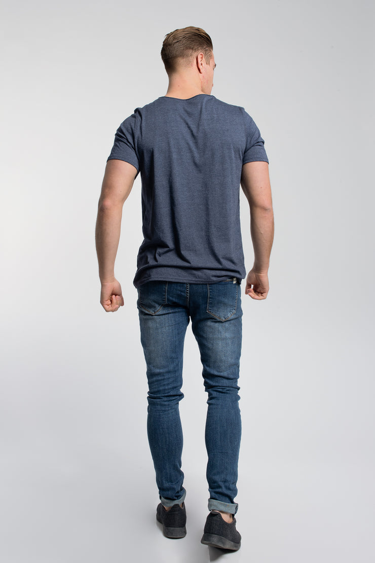 Starter Raw Tee In Navy