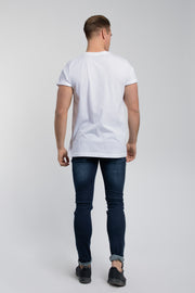 Crucial Cuff Tee In White - thumbnail image no.3