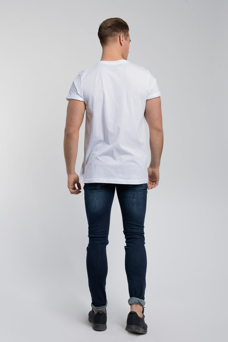 Crucial Cuff Tee In White - image no.3