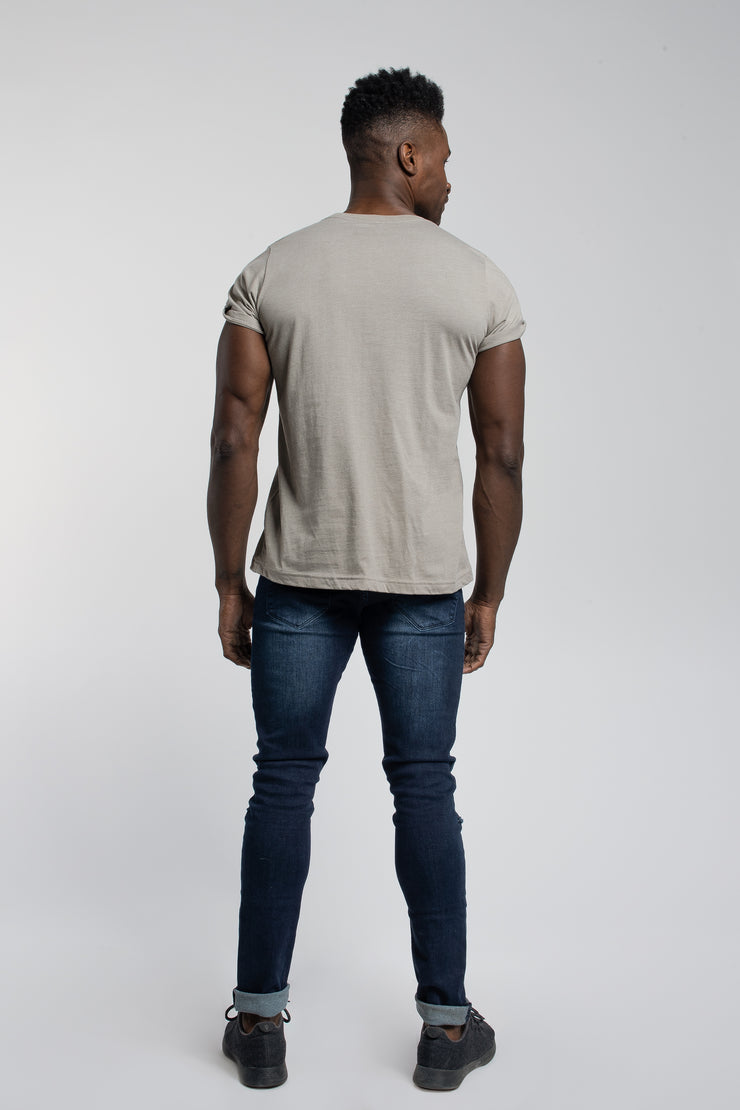 Crucial Cuff Tee In Stone - image no.3