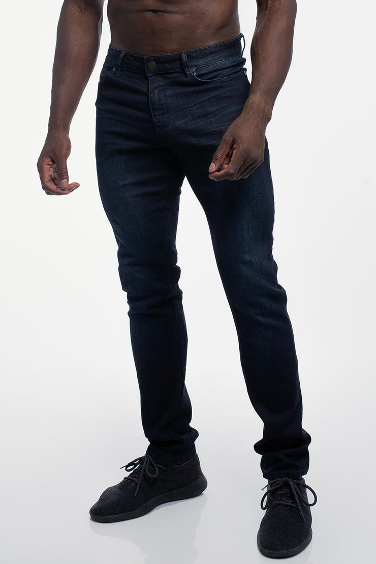 Straight Athletic Fit in Dark Distressed - image no.1