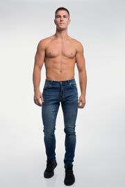 Slim Athletic Fit in Medium Distressed - thumbnail image no.2