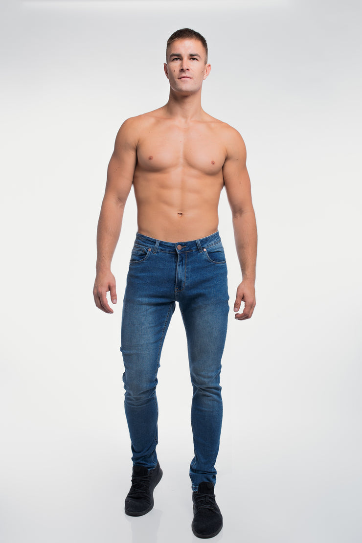 Straight Athletic Fit in Medium Wash ( Tall ) - image no.2