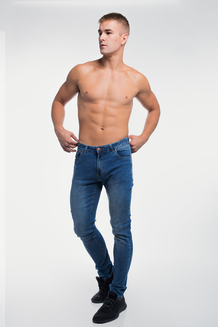 Straight Athletic Fit in Medium Wash ( Tall ) - image no.4