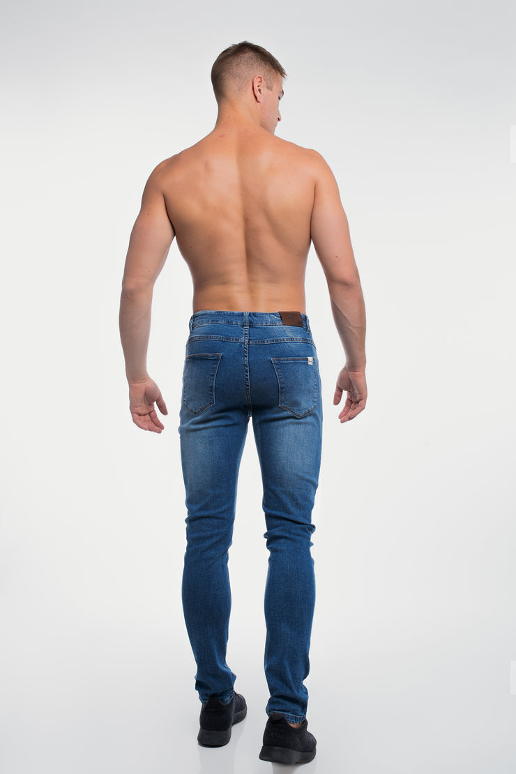 Straight Athletic Fit in Medium Wash ( Tall ) - image no.3