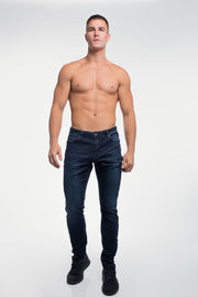 Slim Athletic Fit in Dark Distressed - thumbnail image no.4