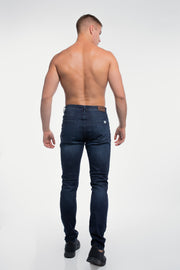 Slim Athletic Fit in Dark Distressed - thumbnail image no.3