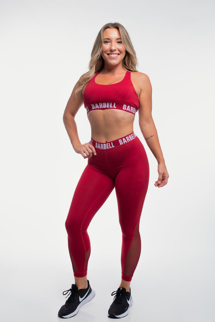 Vented Leggings in Maroon