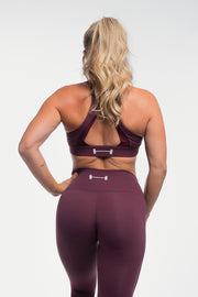 Luna Sports Bra in Plum