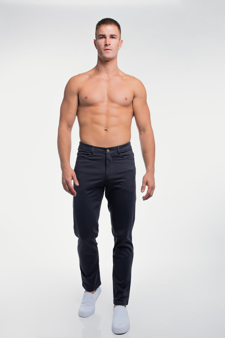 Anything Pant in Straight Navy - image no.4