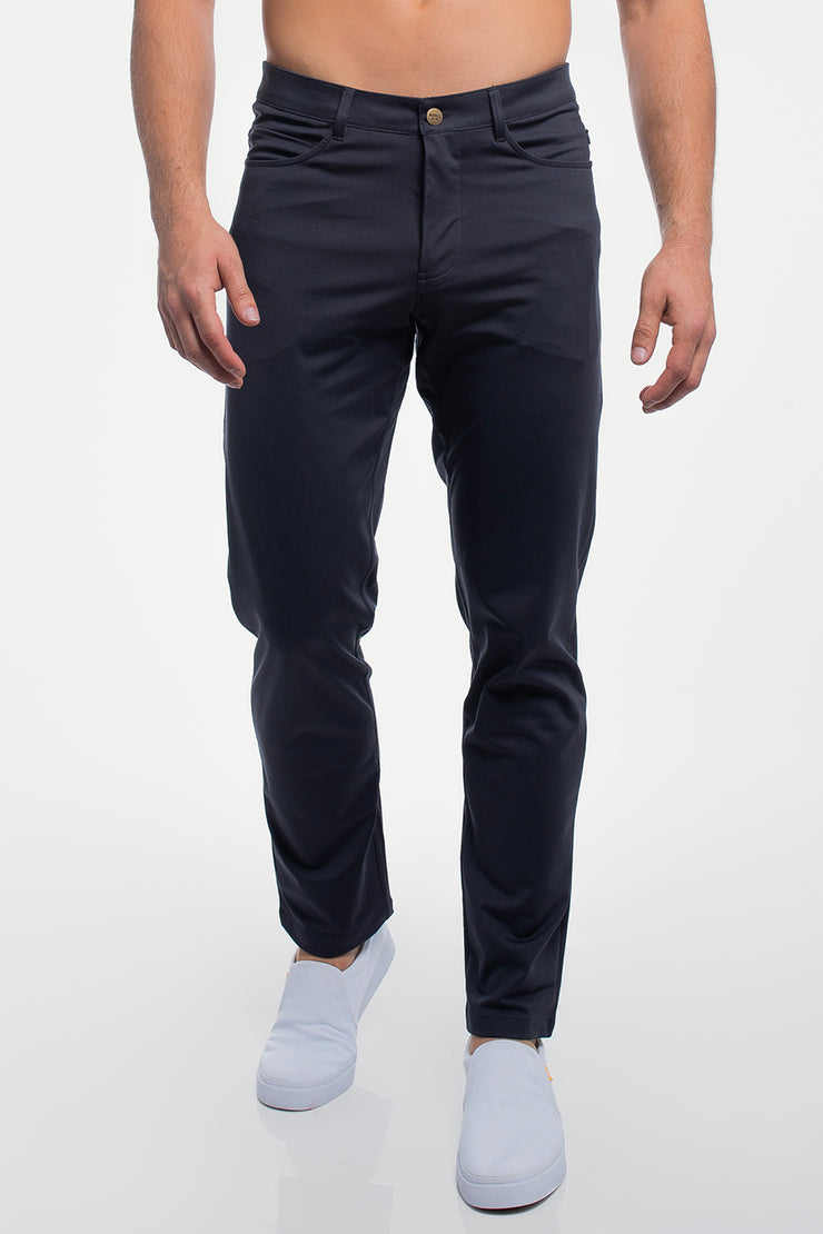 Anything Pant in Straight Navy - image no.1