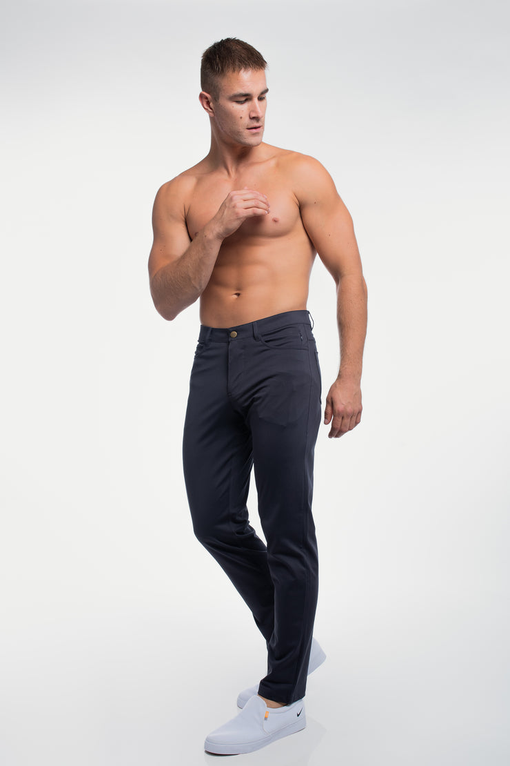 Anything Pant in Straight Navy - image no.3