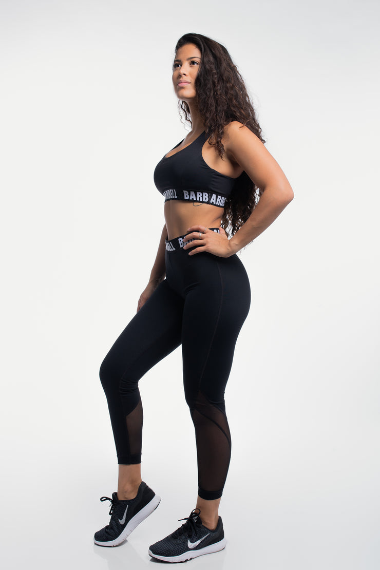 Vented Leggings in Black
