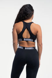 Vented Sports Bra in Black - thumbnail image no.2