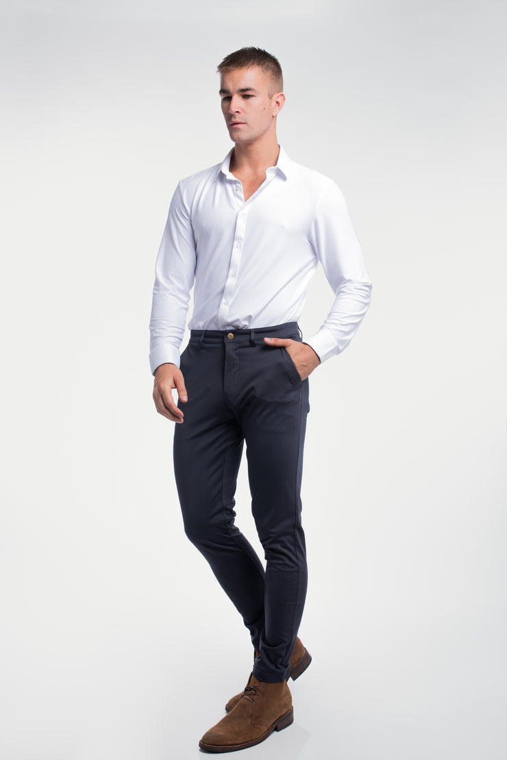 Anything Chino in Slim Navy - image no.3