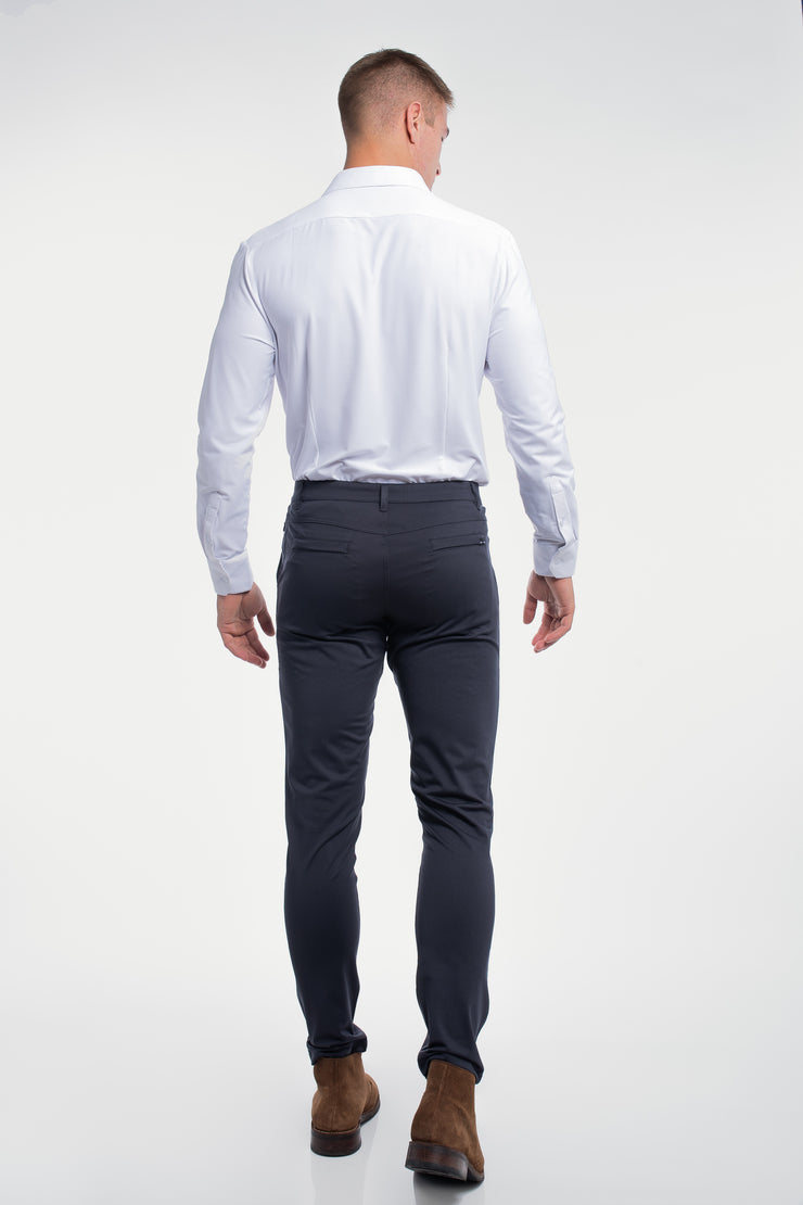 Anything Chino in Slim Navy - image no.2