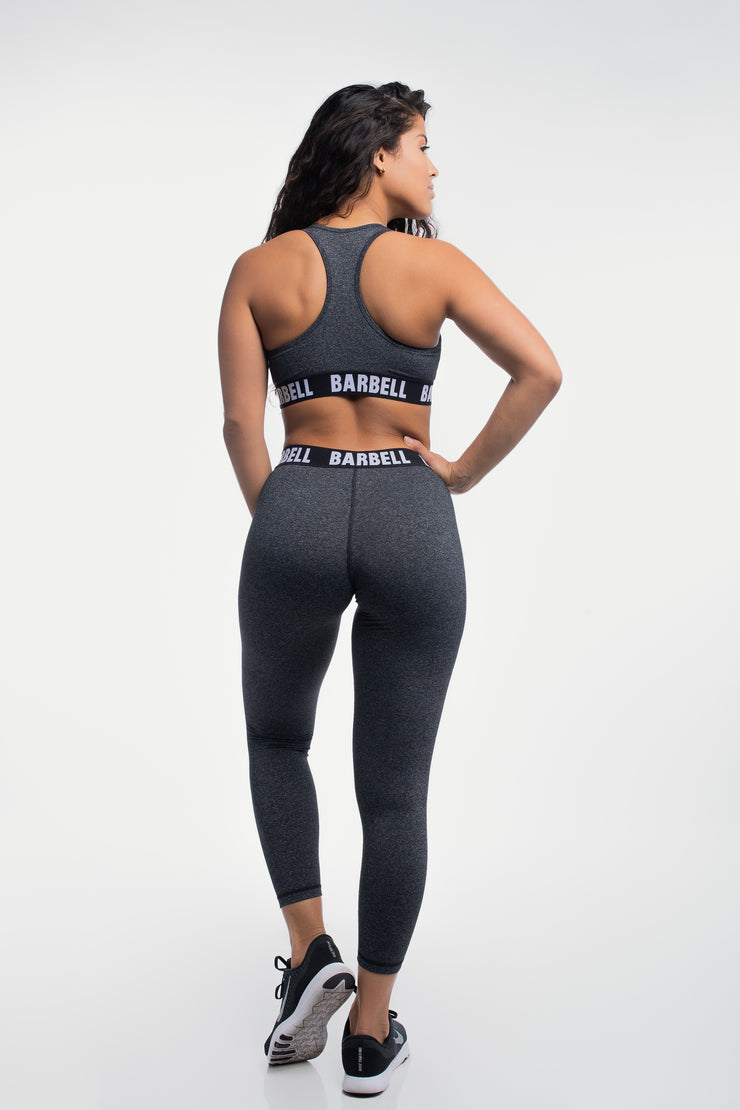 Barbell Leggings in Static Gray