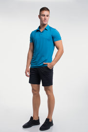 Ultralight Polo in Steel Blue - thumbnail image no.2