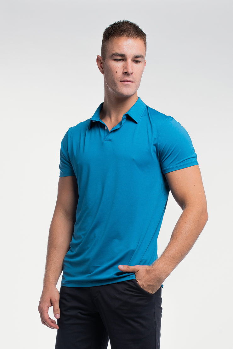 Ultralight Polo in Steel Blue - image no.6