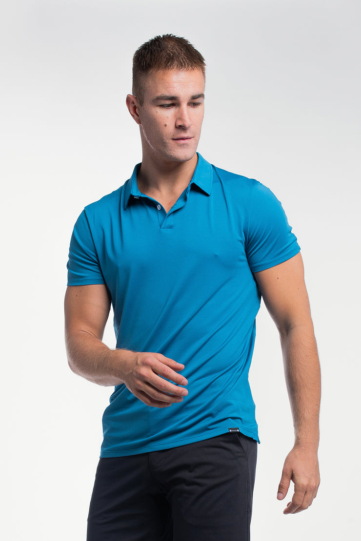 Ultralight Polo in Steel Blue