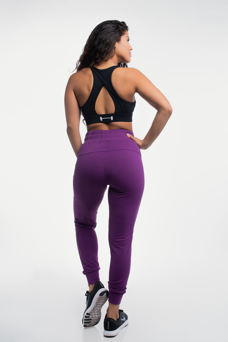 Contour Joggers in Plum - image no.2