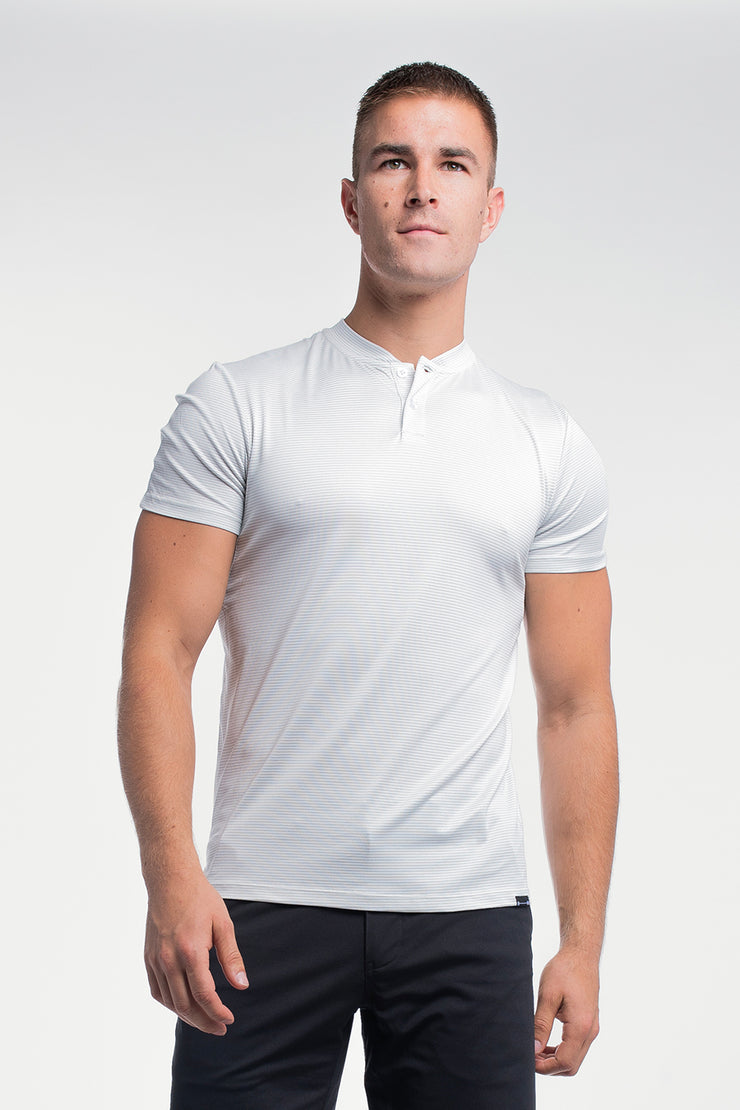 Stealth Polo in White Stripe - image no.1