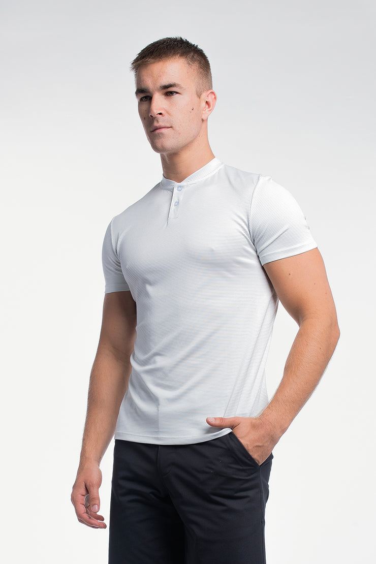 Stealth Polo in White Stripe - image no.2