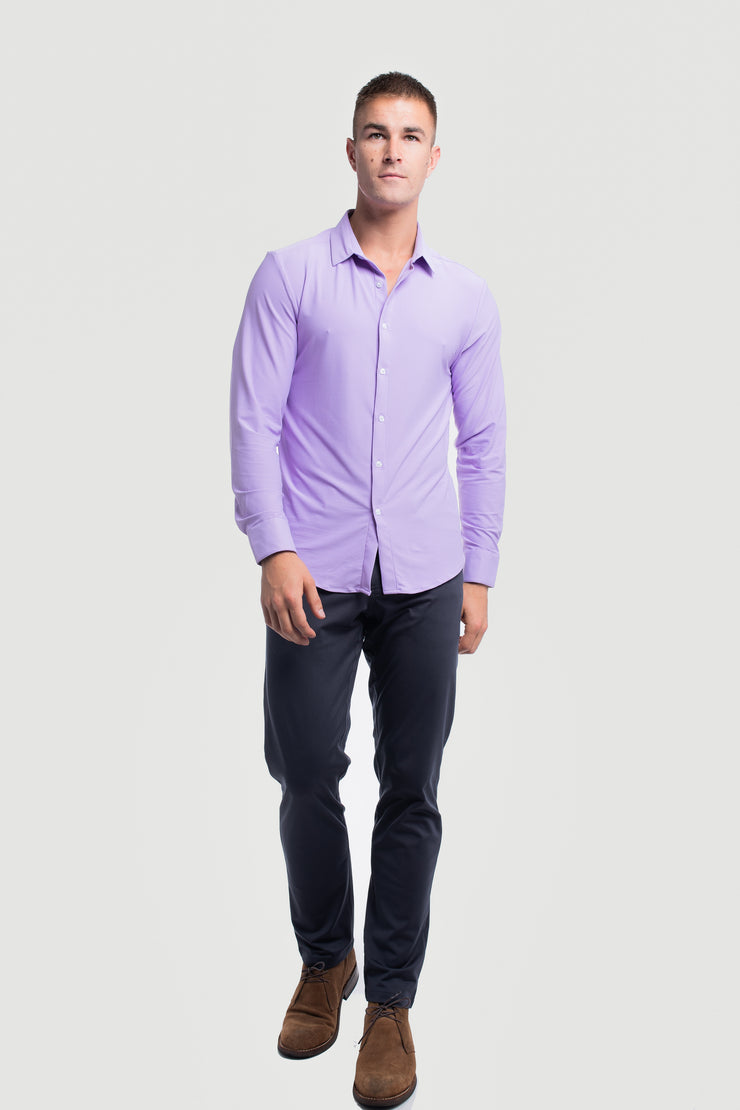 Motive Dress Shirt in Purple - image no.4