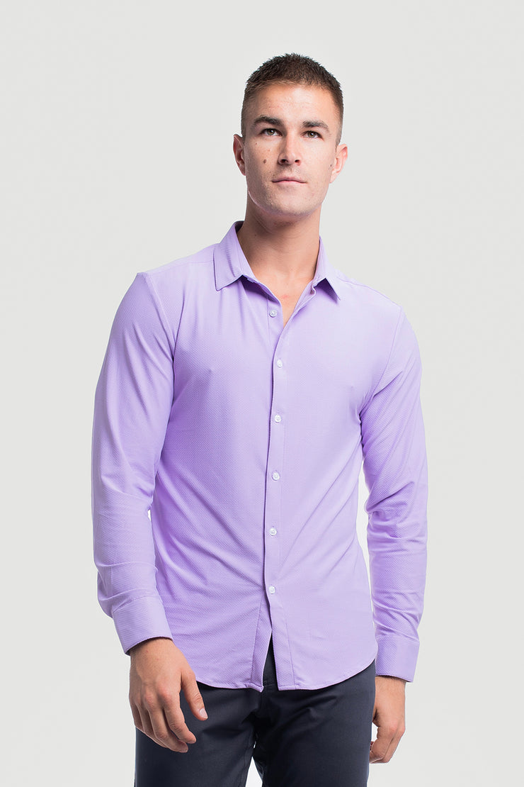 Motive Dress Shirt in Purple - image no.1