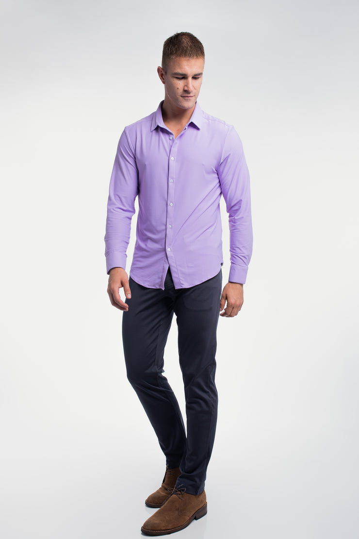 Motive Dress Shirt in Purple - image no.2