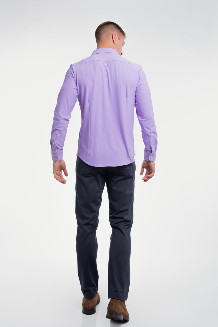 Motive Dress Shirt in Purple - image no.3