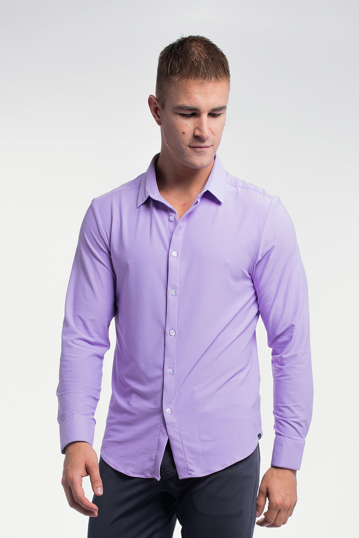 Motive Dress Shirt in Purple - image no.5