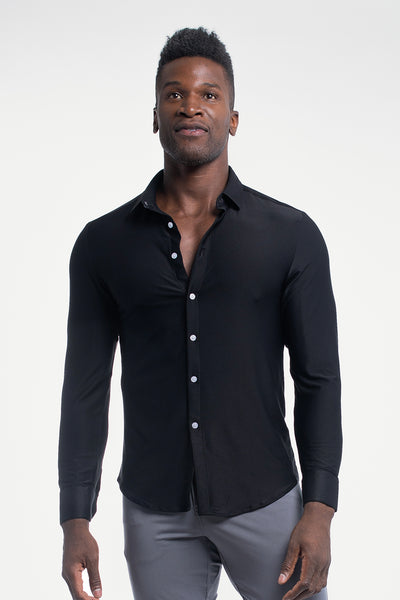 Motive Dress Shirt in Black