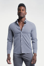 Motive Dress Shirt in Black Gingham - thumbnail image no.1