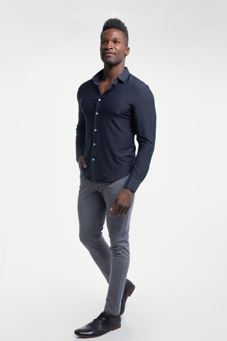 Motive Dress Shirt in Navy